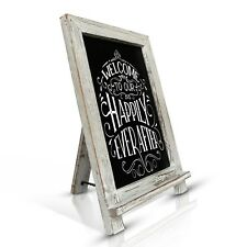 Rustic Chalkboard Handcrafted 35 X 24 Cm Wooden Blackboard Wedding Sign / Easel White-washed