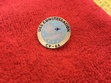 Us Navy Uss Constellation (Cv-64) Hat/Lapel Pin