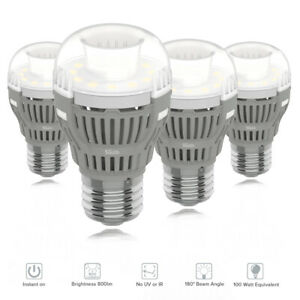 SANSI 8W=100W 5000K LED Light Bulbs 4pack A15 Base Daylight Ceiling Replace Lamp