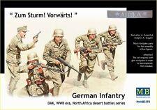 1/35 Master Box 3593  German Infantry DAK, WWII era Plastic model Figures