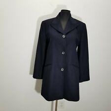 Barneys New York Womens Andre Jacket Size 40 6 Italy Wool Navy Lined Car Coat