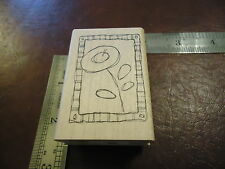 FLOWER IN A FRAME ARTISTIC RUBBER STAMP PLANT LIFE SPRING SEASON FLORAL DRAWING