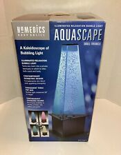 Homedics Aquascape Small Triangle Indoor Bubble Light 40 Inch Kaleidoscope Color