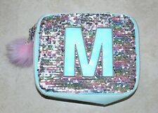 Justice Letter M Up & Down Sequin Insulated Lunch Bag Tote