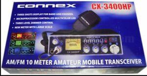 NEW CONNEX CX3400HP 10 Meter Amateur Mobile Radio PRO TUNED HI POWER LOUD TALKN