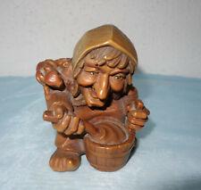 Anri - Gnom,kleinen Leute,  Woodies - Die Zauberin- Gnome Wood Carving - XXL