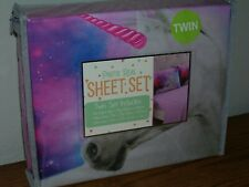 Unicorn Face Photo Real 100% Polyester Twin Sheet Set Brand New in Package