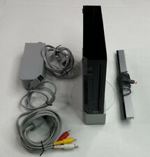 Nintendo Wii Black Console RVL-001 Game Cube Compatible Tested Working