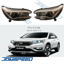 For Honda CR-V 2012-2014 Headlights with Angel Eye and LED Light Bar DRL Lamp