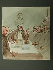 Dessin Ancien Aquarelle Scène Politique Vive la France OSWALD HEIDBRINCK 1900