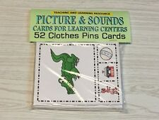 Picture & Sounds - Flashcards for Preschool 52 Cards- Teaching supplies