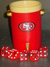 NFL San Francisco 49ers Dice Cup & Dice, NEW