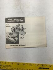AD SPECS CHRIS CRAFT BOAT Brochure 1958 PRAM VAGABOND COMET RUNABOUT BOAT KITS