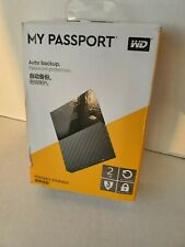 NEW WD 2TB My Passport USB 3.0 WDBS4B0020BBK-WESN External Drive Secure Black