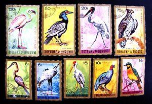 BRUNDI C8-16 BIRDS CTO OG (SEE DESCRIPTION)
