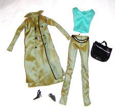 Barbie Fashion Sleek Green Pantsuit For Model Muse Barbie Dolls mc02