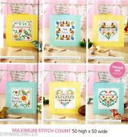 CARDS FOR SPRING     -     CROSS STITCH PATTERN  ONLY   6E71Q