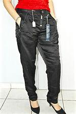 "pantalon satin noir HIGH USE ex girbaud ""kick off"" T 42 fr 46i NEUF valeur 350€"