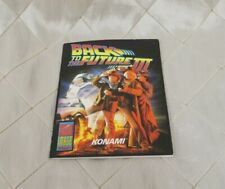 Back to the Future III Konami Image Works 1991 Game Manual Vintage