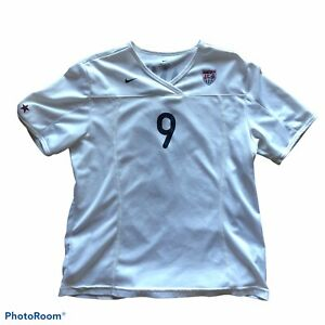 2002 Nike USA Mia Hamm #9 Large Home White Jersey Soccer USWNT -  Fair Condition