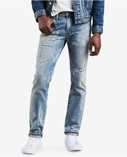 Levis 511 Slim Fit Jeans Mens 34 x 34 Lt Wash Distressed Stretch Denim NWT $98