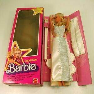 New Supersize blonde Barbie Doll 9828 Vintage 1976 By Mattel in box