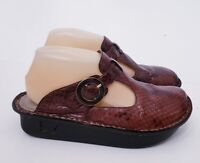 Alegria by PG Lite Women's ALG-702 Choc Snake Leather Mules Clogs Shoes 37 / 7