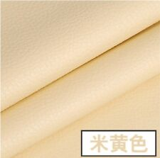 """1/2 yard/meter lychee PU Fake Leather Fabric Solid Color DIY 55"""" #28"""