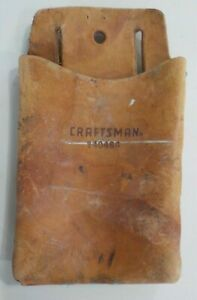 Vintage Sears Craftsman Tool Pouch Top Grain Cowhide Leather- 940464