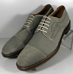 202347 SD45 Men's Shoes Size 8.5 M Gray Leather Lace Up Johnston & Murphy