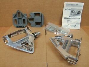 NOS Shimano 600 (PD-6400) Clip-Style Road Pedals...Late 80's Model w/Cleats