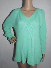Cotton V-Neck Chunky, Cable Knit Women's Jumpers & Cardigans