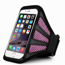 "iPhone 6 Plus 5.5""  Pink Mesh Running, Jogging, Cycling Armband Mobile Phone Cov"