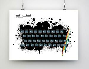 Retro Gaming art - ZX SPECRUM - decor home geek gift for him her office game
