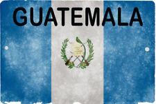 GUATEMALA flag Sign 8 x 12 Patriot Emblem FUZZY Version