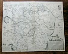 1632 Hondius Fen Map Cambridge, Ely Peterborough Huntingdon Antique Mercator