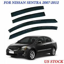 For Nissan Sentra 2007-2012 Window Visor Rain Guard Wind Deflector Tint Durable (Fits: Nissan)