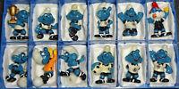 SATZ Fußball Schlümpfe 1988 in dunkelblau inkl. Bällen + Emblemen ORIGINAL