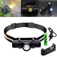 1000lm LED Headlamp Portable Head Light Handheld Torch USB Rechargeable 18650