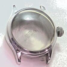 NOS Antique Vintage LITE Watch Co Stainless Steel Mens Wrist Watch Case #1D