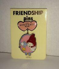 Vintage Sanrio Hello Kitty My Melody World's Best Mom Friendship Pin Lapel Rare