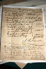 #7133,Bill of Sale 1841,Pittsburgh to Franklin PA Stampless Letter(PM Butler)