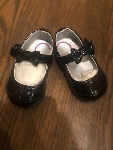 NEW Stride Rite baby girl mirren black shiny mary jane bow party HOLIDAY Shoe 1
