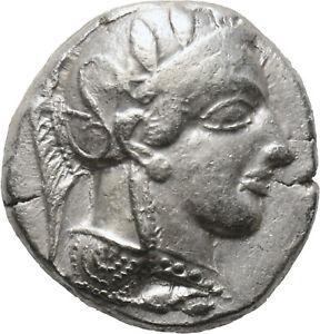 DIONYSOS Attika Athen AR-Tetradrachme Eule #ML 1247
