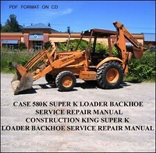 CASE 580 K SUPER 580K TLB BACKHOE LOADER TRACTOR SHOP SERVICE MANUAL CK KING CD