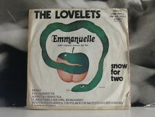 "THE LOVELETS - EMMANUELLE / SNOW FOR TWO 45 GIRI 7"" SOUNDTRACK"