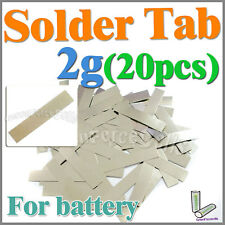 2g 20 pcs Solder Tab For Sub C SubC AA AAA 14500 18650 Battery Cell