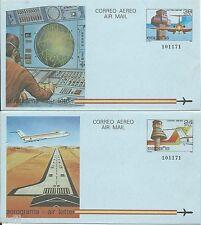 Spain Aerograma edifil # 207/208 (*)
