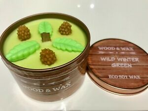 NEW FOR AUTUMN / MULTI BUY  FREE GIFT / SCENT SOY WAX CANDLE  WOOD WICK  / UK