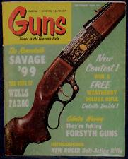 Magazine *GUNS*, September 1968 !CAPLOCK Rifled MUSKET! *SAVAGE Model 99 RIFLE*